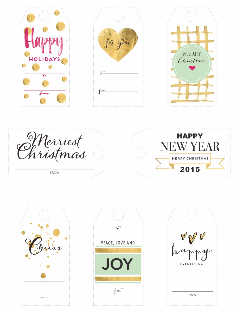 Free holiday tags