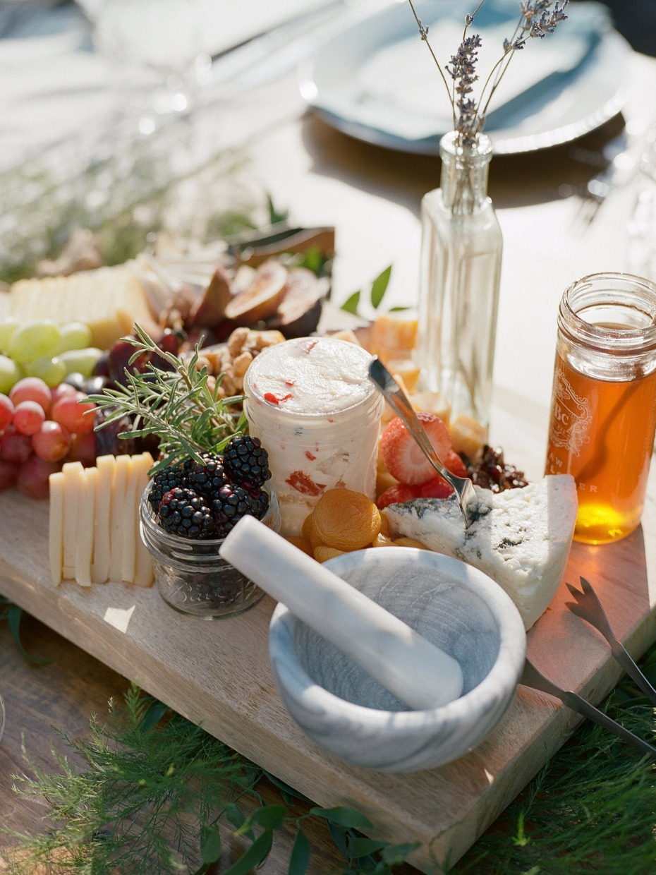 Cheese tray centerpiece idea