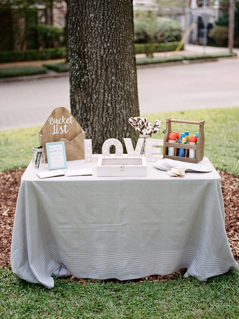 Welcome wedding table