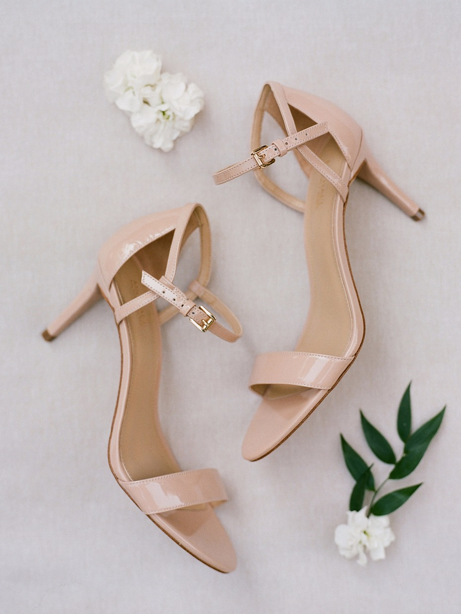 Nude heels for the bride to be