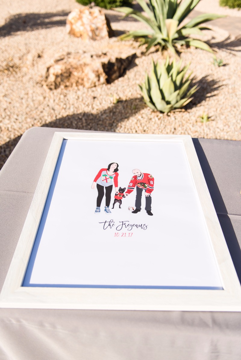 Can we just talk about all of the awesomeness going on here for a moment? That desert. That portrait. THE DOG. Shop the most custom