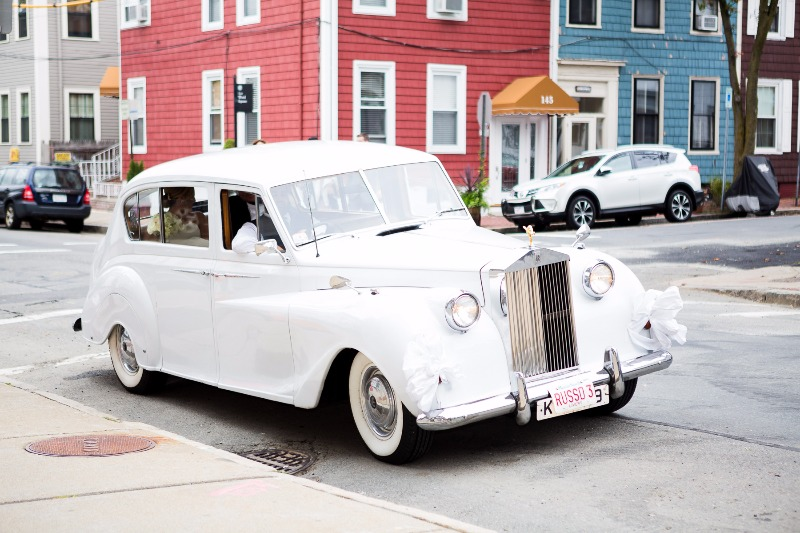 This bride arrived at her ceremony in an antique car! We love this idea, it really adds a unique aspect to weddings. Not to mention