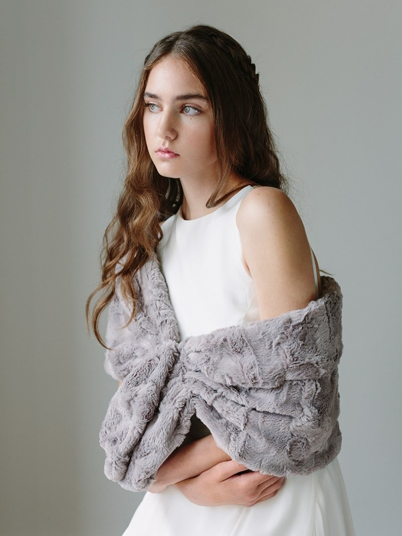 The softest, luxest of faux fur shawls available in a variety of colours and styles.