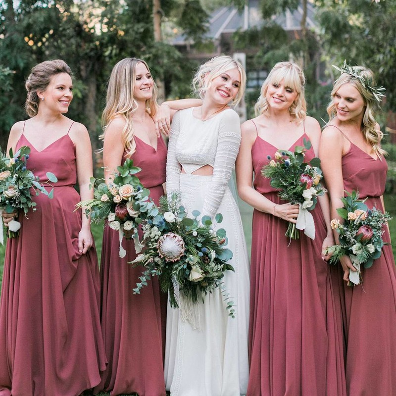 9dc062b9623 Are you obsessed with these bridesmaids dresses  😍 They are the style Cinnamon  Rose Inesse