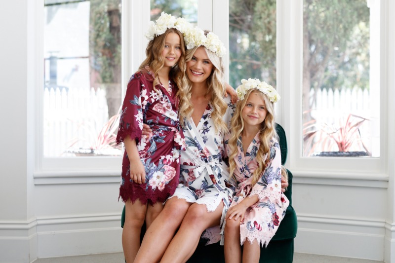 Matching robes for the whole bridal party