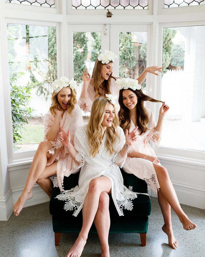 Strike a pose✨Gorgeous girls in the 'Allure' embroidered robes. available online | Shipping worldwide💗LR xx
