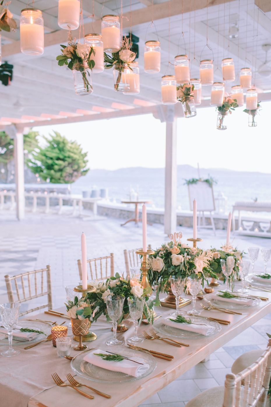 whimsical and elegant wedding table decor