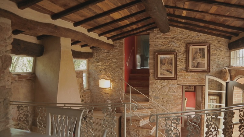"""A sneak- peek of the inside of """"Del Mulino""""... 1 of our 5 enchanting apartments at Valle di Badia. Warm and relaxing vibes �"""