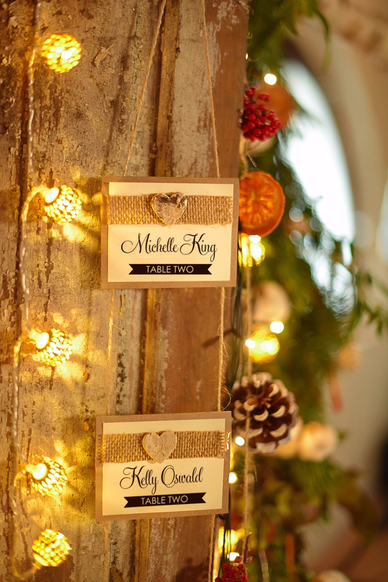 Rustic #placecards