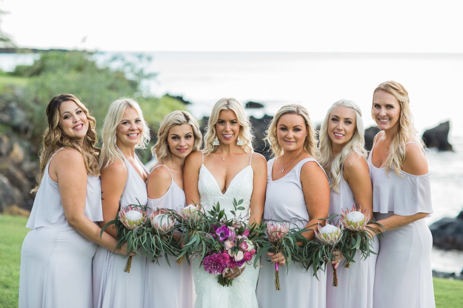 Relaxed wedding in Maui