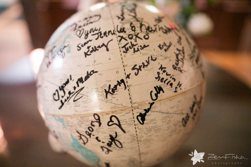 You don't have to use a traditional guest book! Add personality to your wedding and use something meaningful for your guests to sign