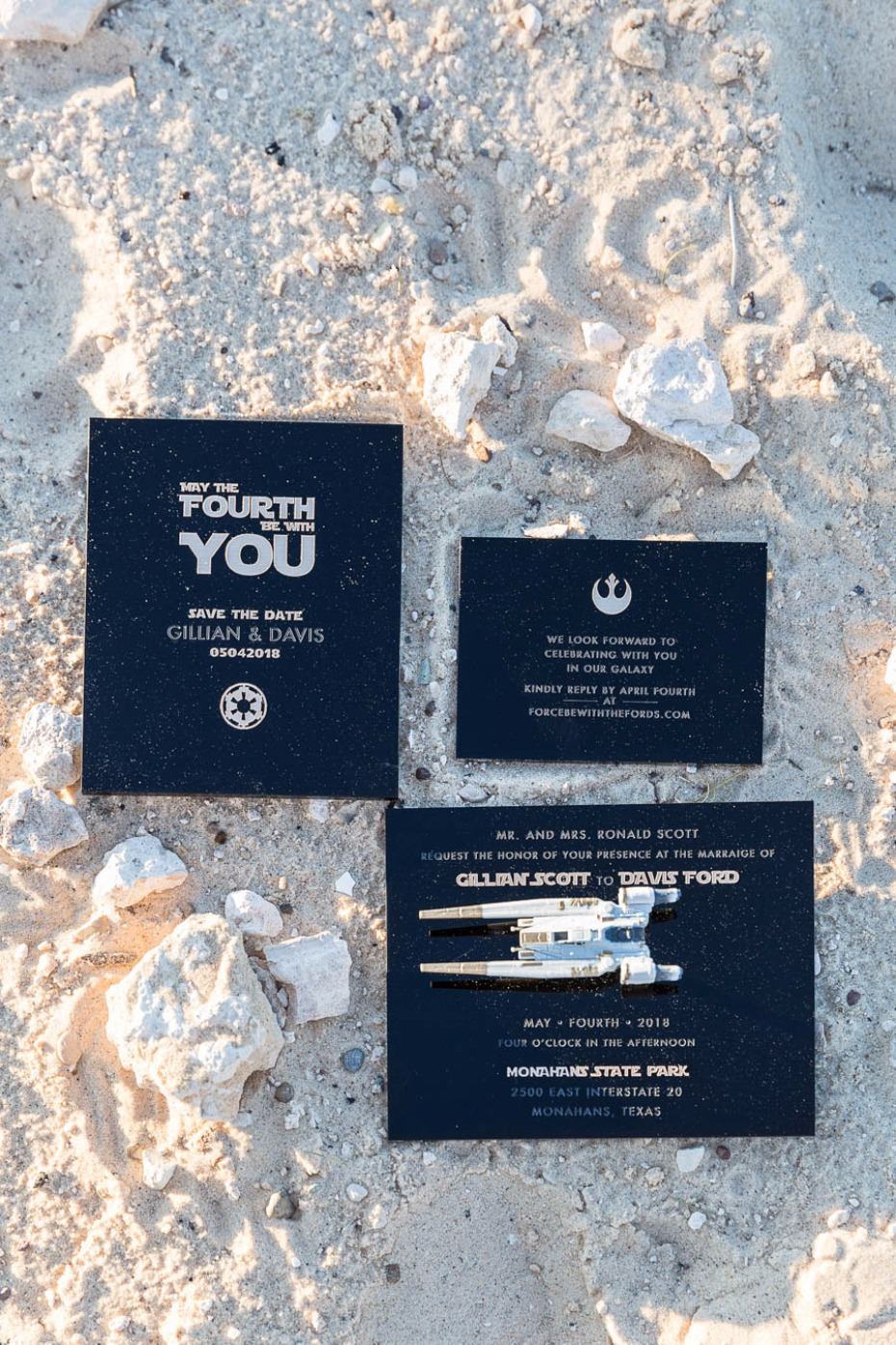 May the fourth be with you Star Wars wedding invitations