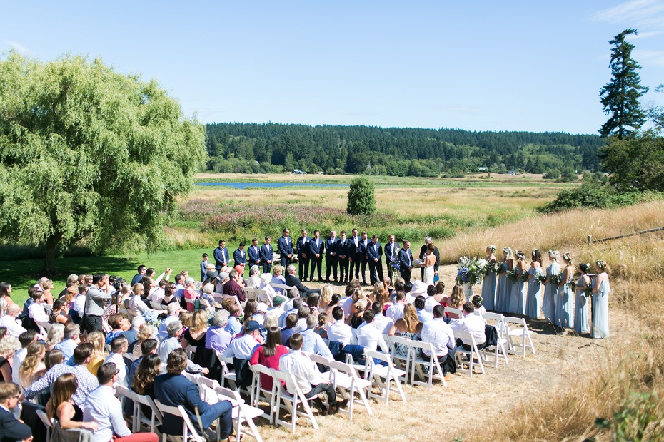 Outdoor ceremony at the Fireseed on Whidbey Island