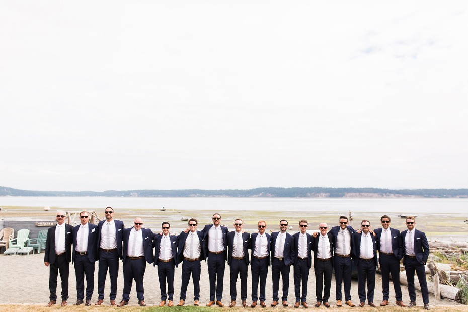 HUGE groomsmen party
