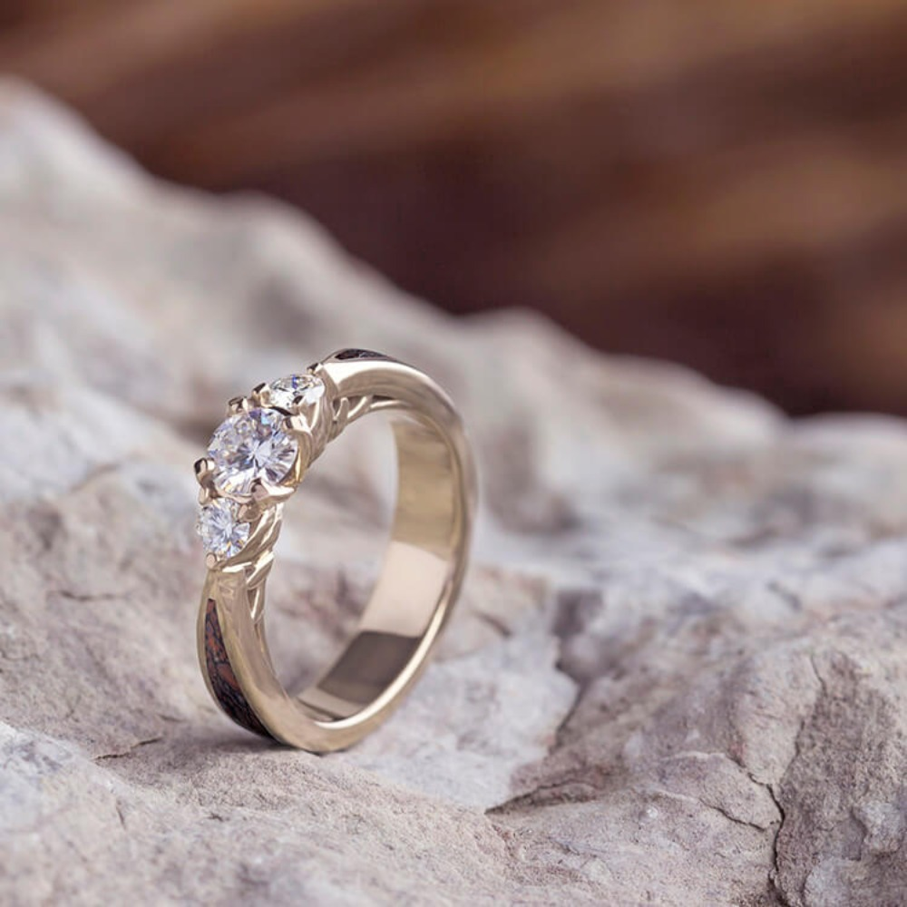 bone antler rings mens wedding view gallery attachment of dinosaur photos full wonderful ring inside and meteorite with titanium for band