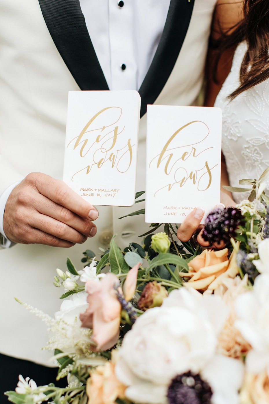 his and hers vow books for a private vow reading
