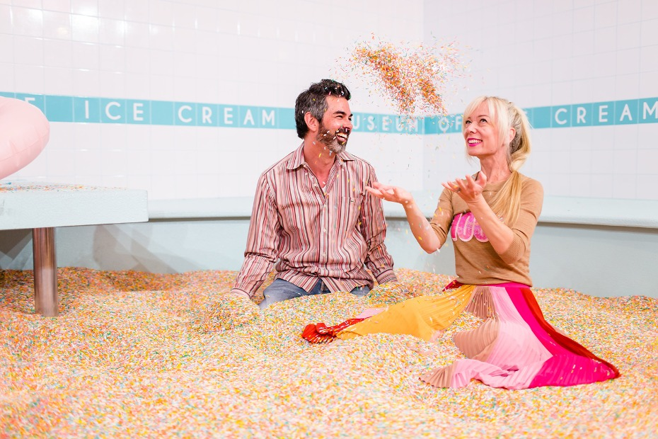 Play in the sprinkles at the Museum of Ice Cream