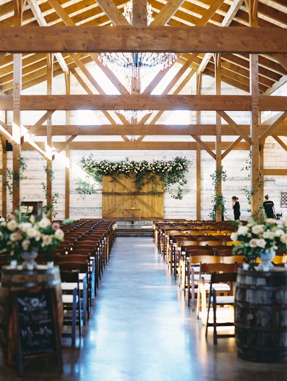 A beautiful wedding ceremony that just happens to be in a barn