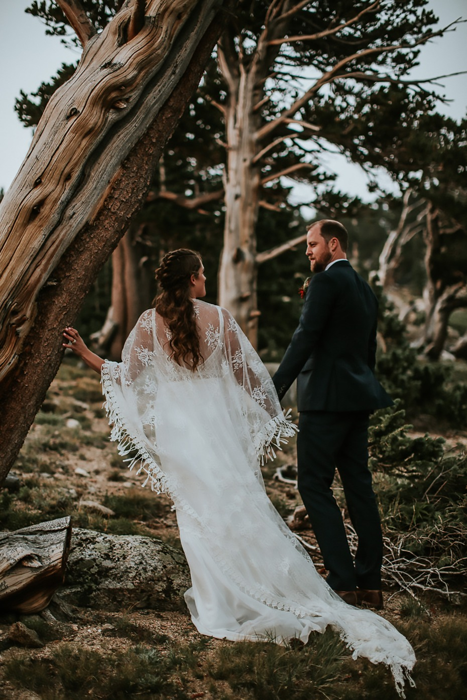 rustic and wild forest wedding