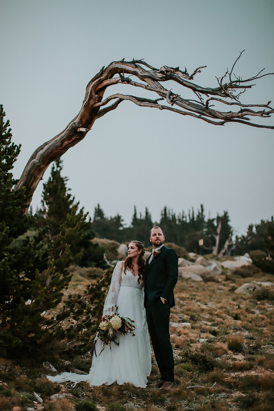 mountain top forest wedding photo ideas