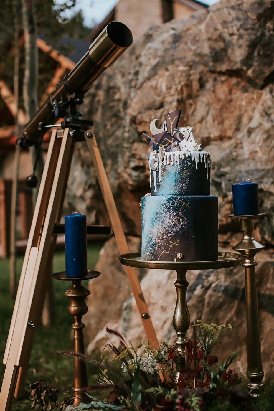 astronomy meets wedding cake