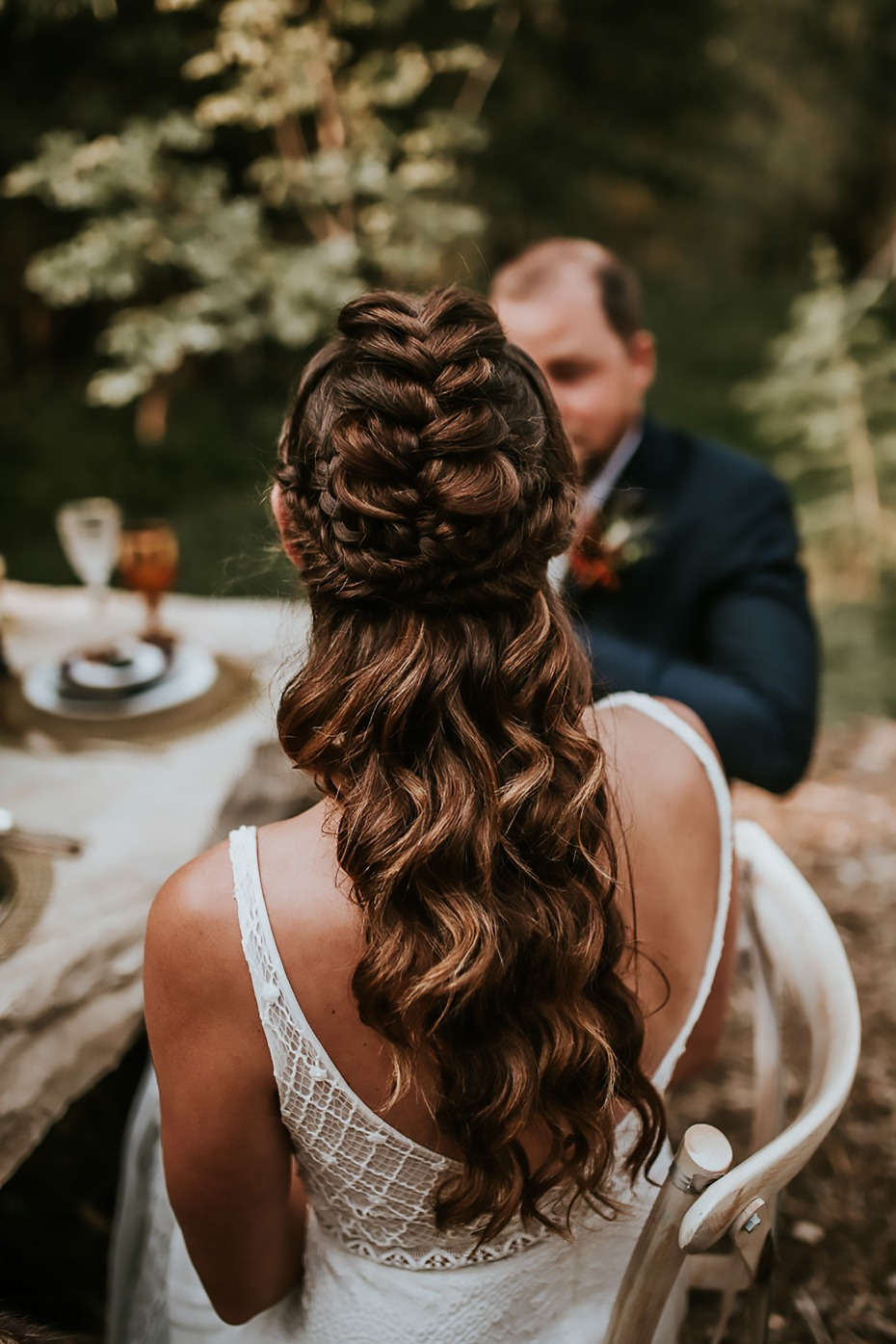dramatic Game of Thrones styled wedding hair