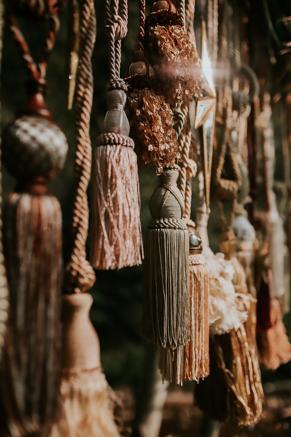 vintage tassels for your wedding decor