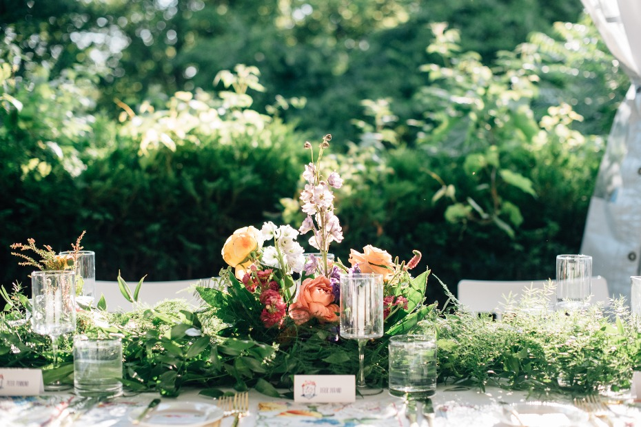 Greenery floral centerpiece