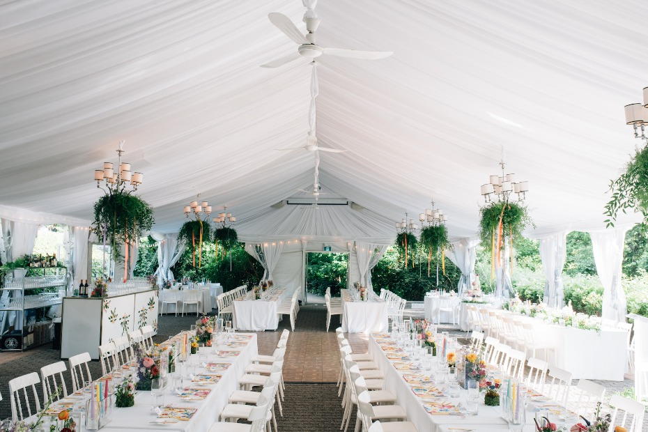 Floral filled reception space