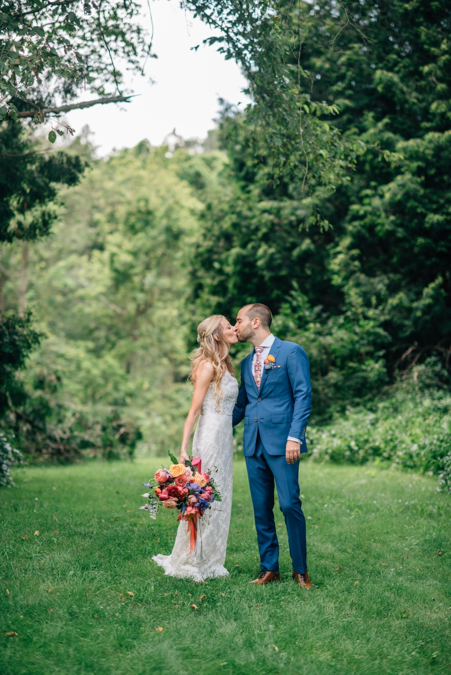 Flower-filled outdoor wedding