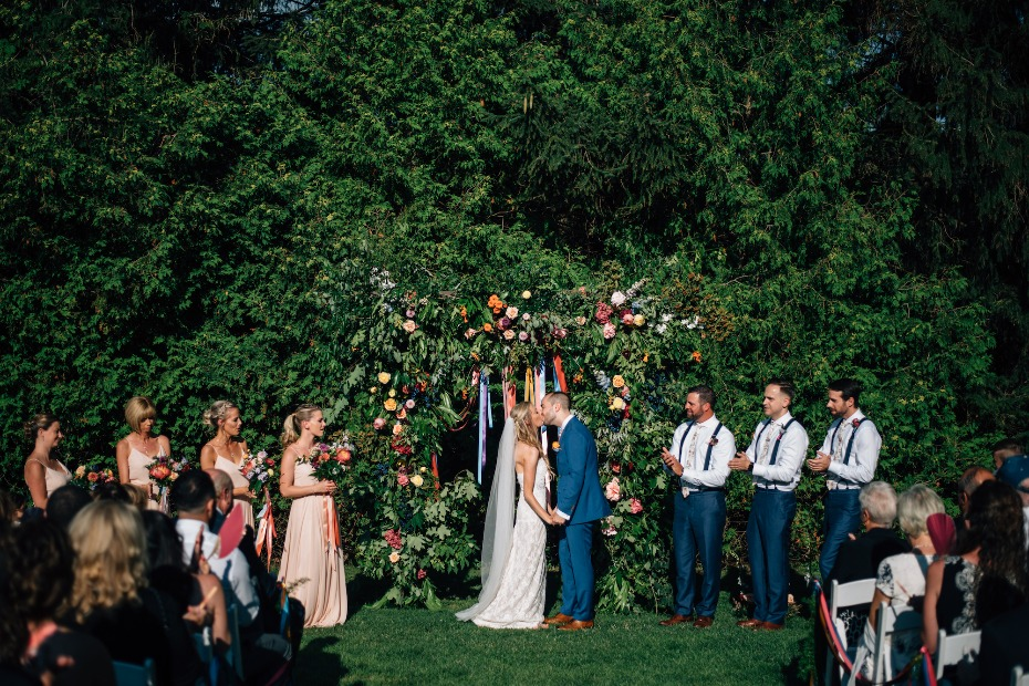 Floral filled outdoor ceremony