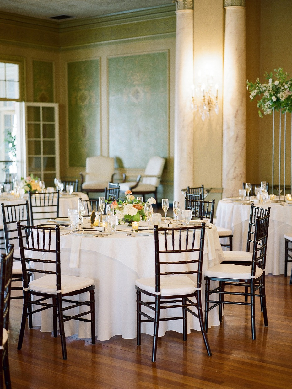 wedding tables set up for your ballroom style reception