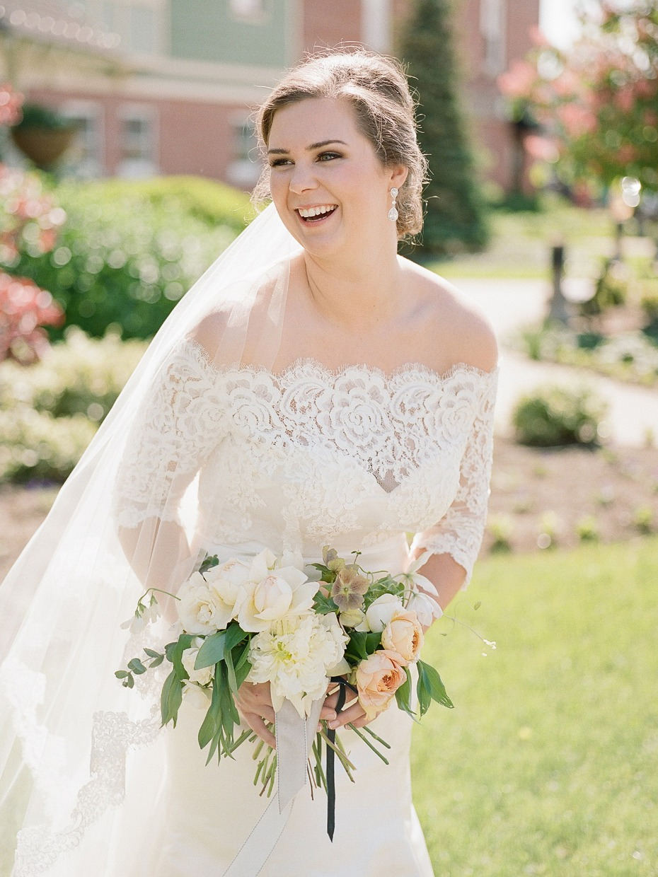 lace off the shoulder wedding dress style