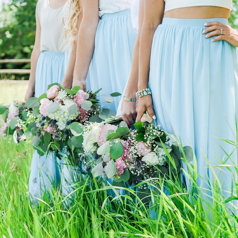Making your bridesmaids your something blue. #ShopRevelry