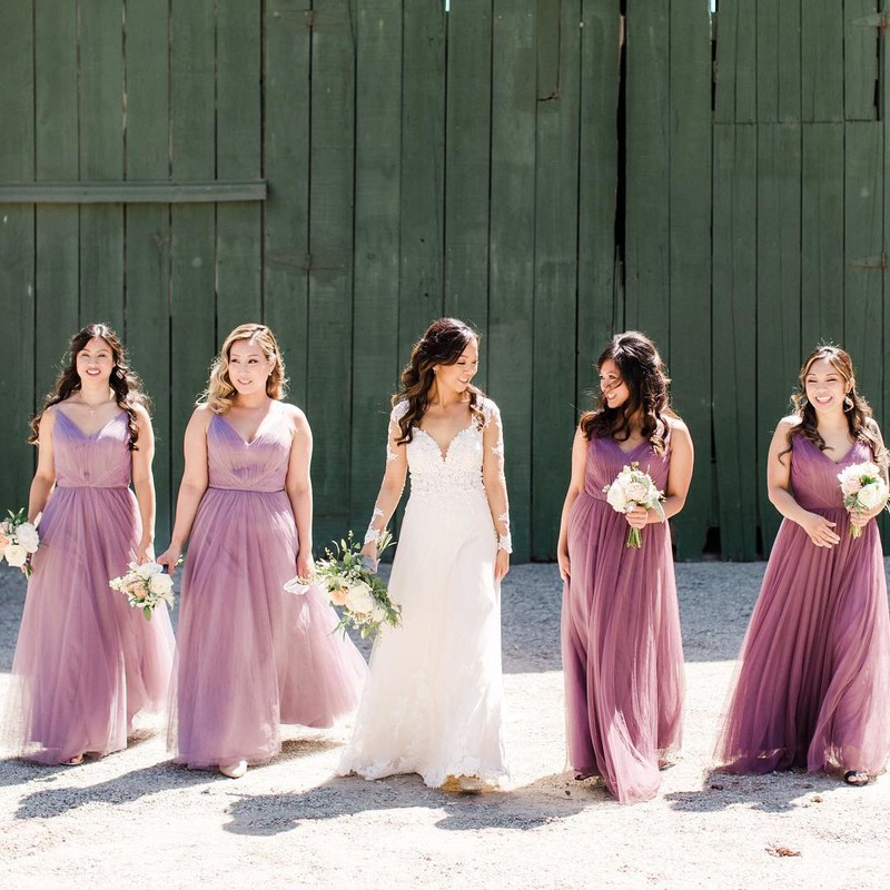 The prettiest girl squad in the most perfect purple tulle.💜