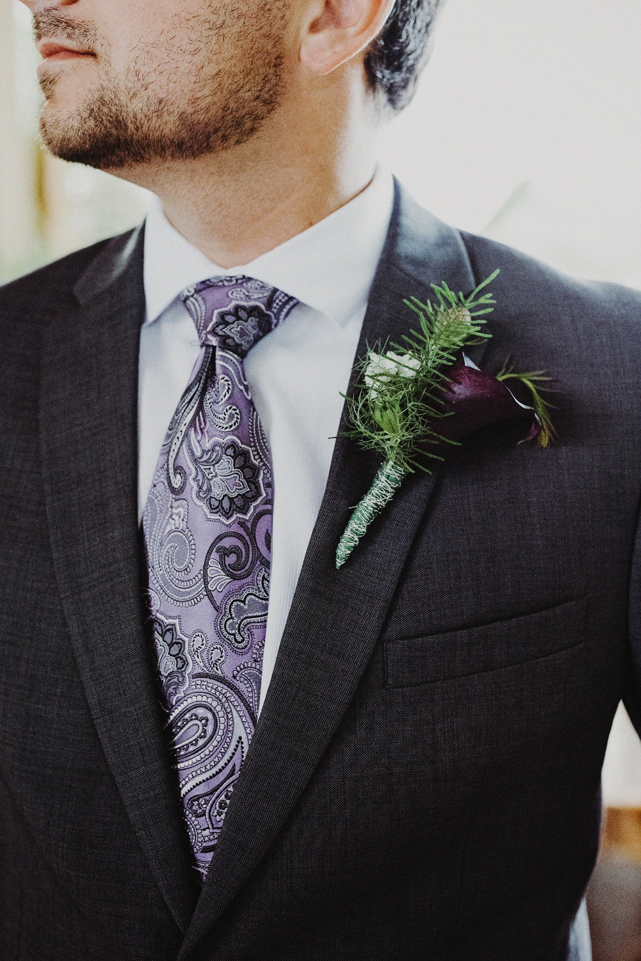Dapper groom attire