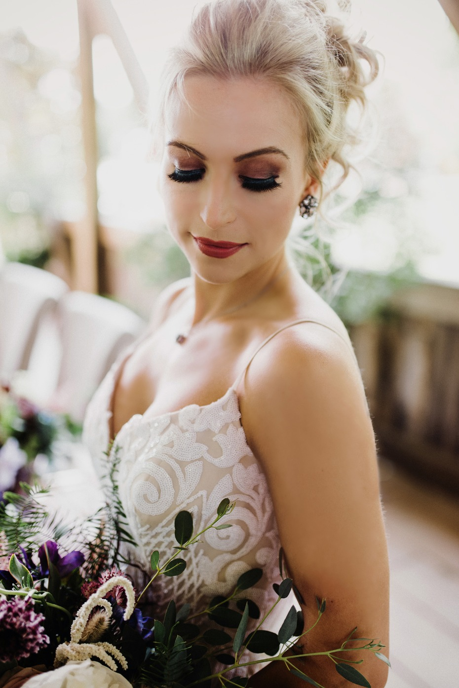 Dramatic bridal makeup