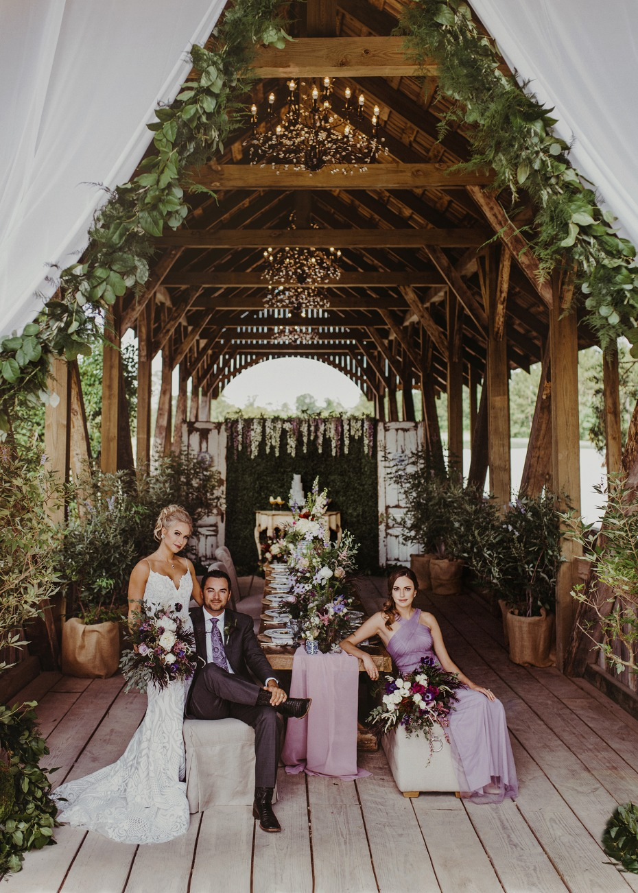Stunning floral filled reception space
