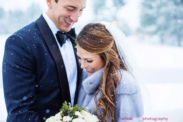 in my 13 years of photographing weddings, i've never had a wedding day where it snowed all day long! big ups to