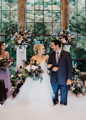 Dramatic Vintage Wedding Inspiration in Purple and White