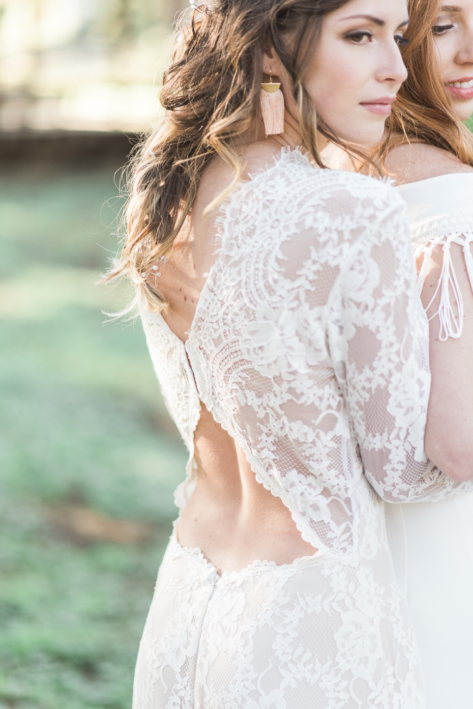Gorgeous low back lace gown