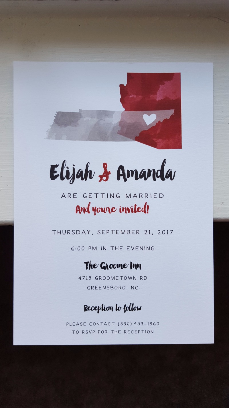 Custom invitations that incorporated Elijah & Amanda's love journey. Looking for personalization that is next level? Schedule a