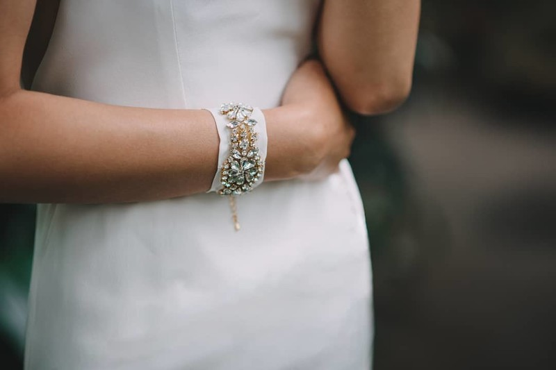 We love the Brontë Silk Cuff because it makes a perfect ceremony accoutrement just as well as a cute statement for a morning breakfast