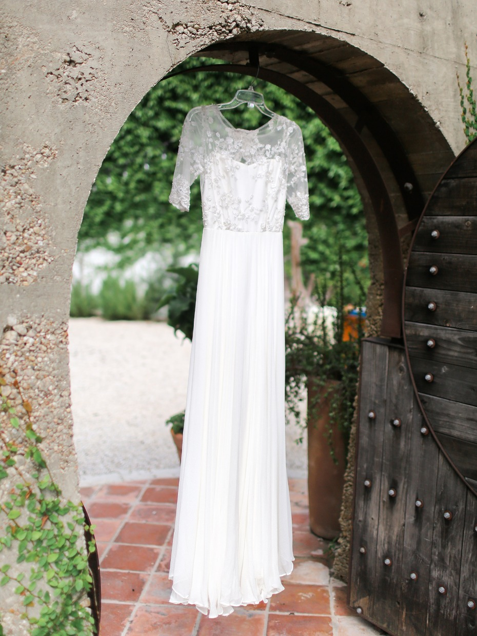 wedding dress from Saint Isabel