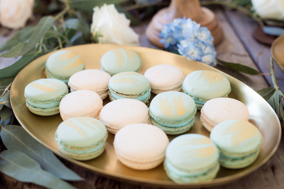 Macarons with gold