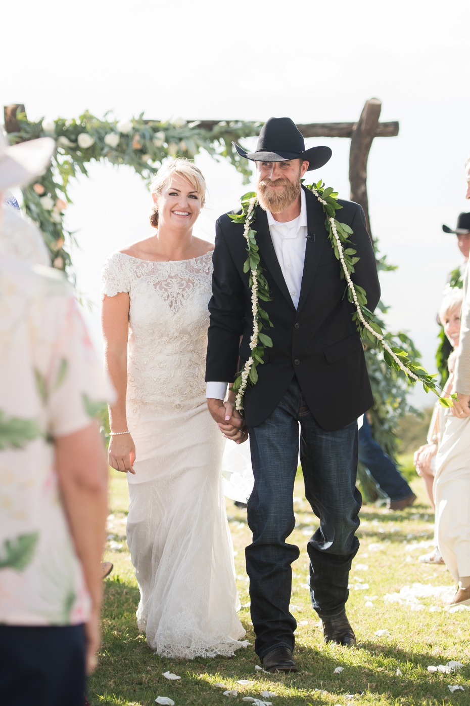 Family Ranch wedding in Maui