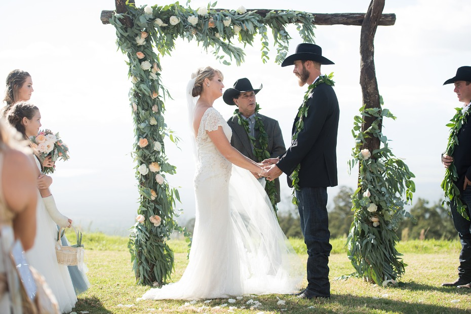 Family ranch outdoor ceremony in Maui