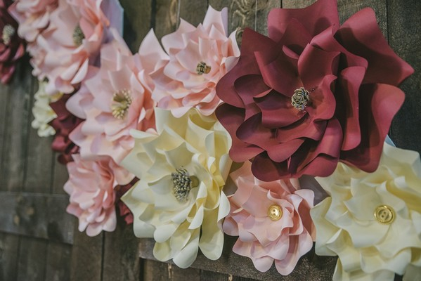 Live Flowers Not An Option? Check Out This Paper Flower Wedding!