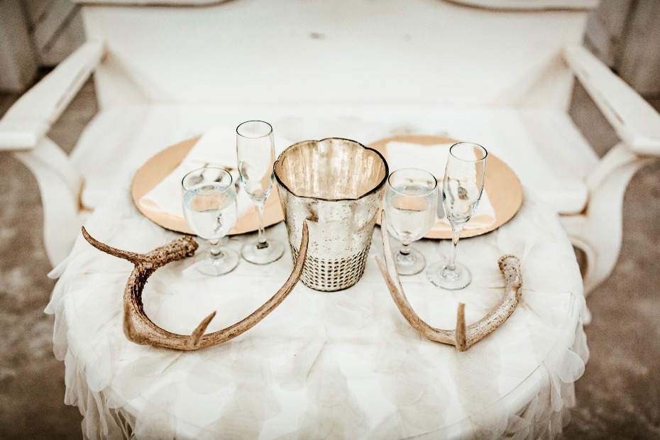 Antler shed table decor