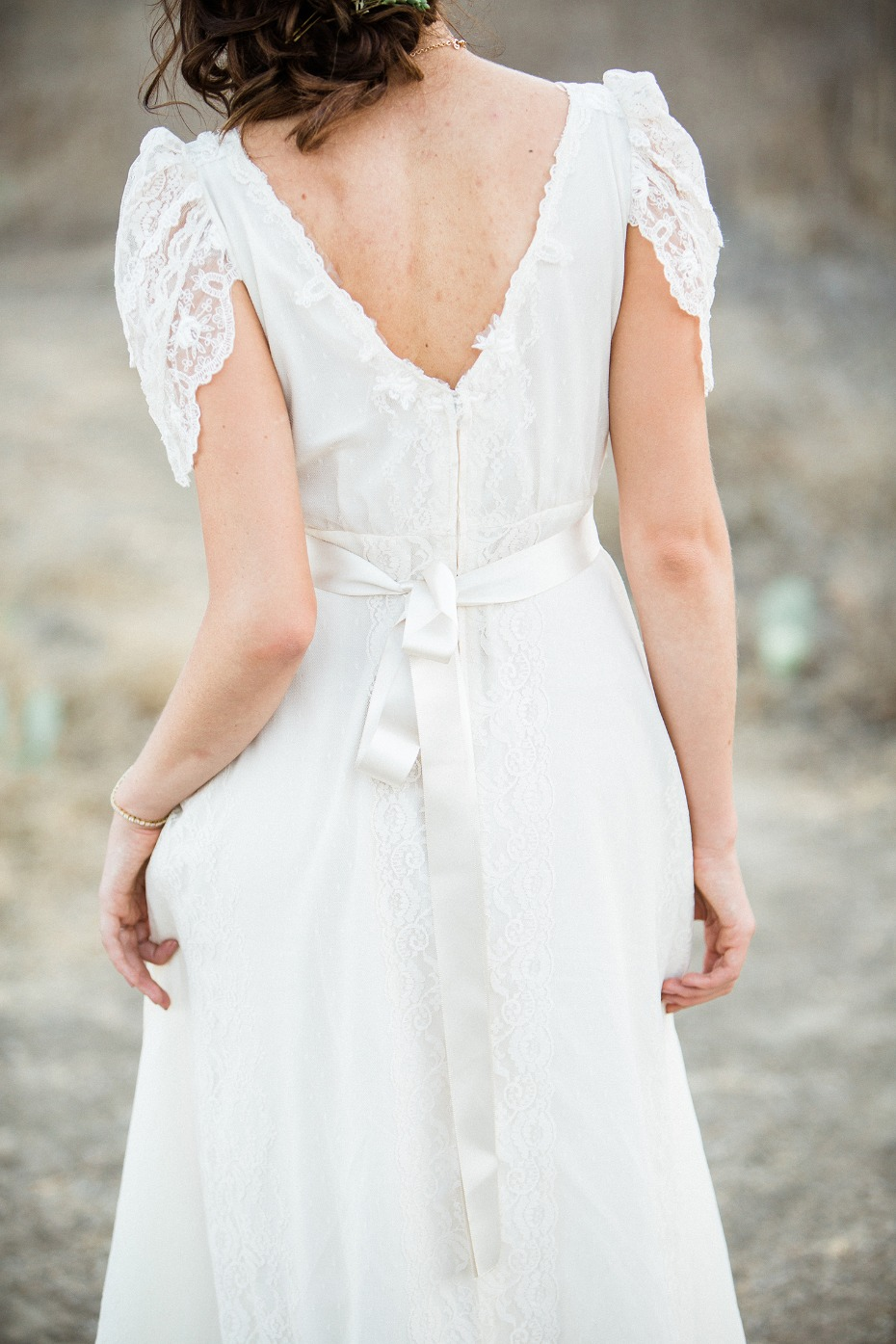vintage style wedding dress by Gossamer